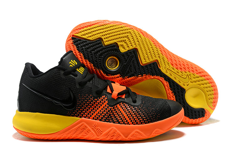 3f77482ba2b5 2018 Cheapest Wholesale Nike Kyrie Irving Flytrap Black Yellow Orange -  www.wholesaleflyknit.com