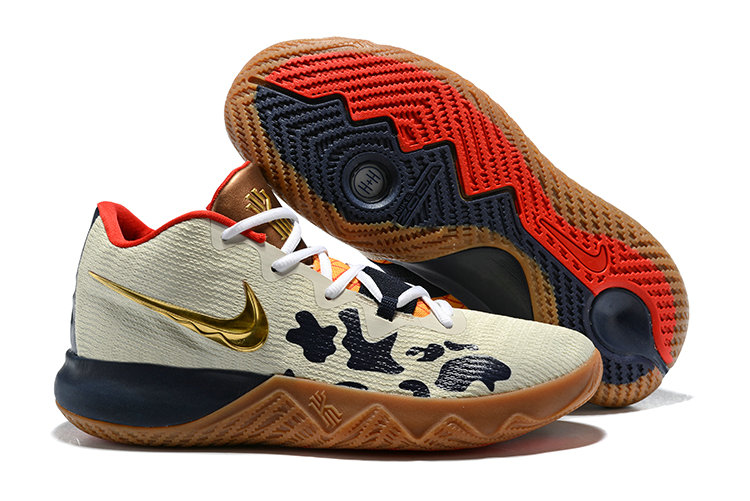 03c693b0c213 2018 Cheapest Wholesale Nike Kyrie Irving Flytrap Gold Cream Red Navy Blue  - www.wholesaleflyknit