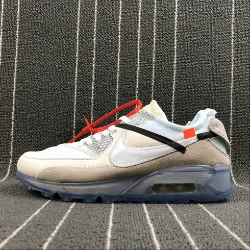 the latest 42045 4d411 2018 NikeLab OFF-WHITE x Cheap Nike Air Max 90 Sail White-Muslin Voile