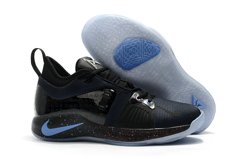 e988eeb6bd1 2018 Wholesale Cheap Nike PG 2 Paul George Black Blue -  www.wholesaleflyknit.com. Loading zoom