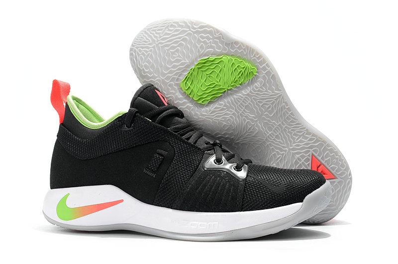 2018 Wholesale Cheap Nike PG 2  Paul George Black White Red Grass Green - www.wholesaleflyknit.com