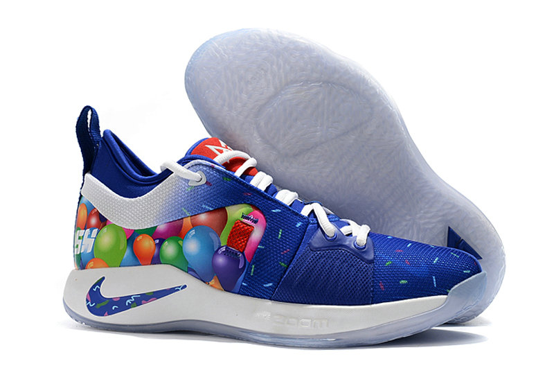 2018 Wholesale Cheap Nike PG 2  Paul George Blue White Colorful - www.wholesaleflyknit.com