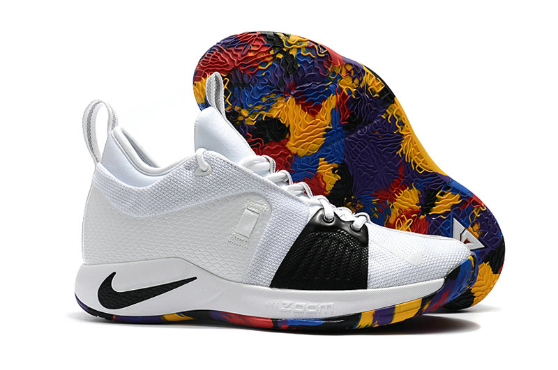 2018 Wholesale Cheap Nike PG 2  Paul George Colorful Black White - www.wholesaleflyknit.com