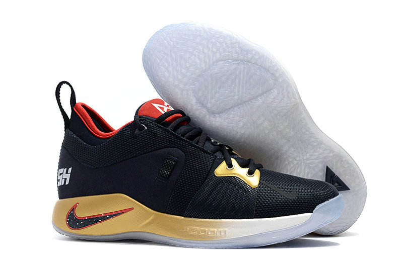 2018 Wholesale Cheap Nike PG 2  Paul George Gold Black Red - www.wholesaleflyknit.com
