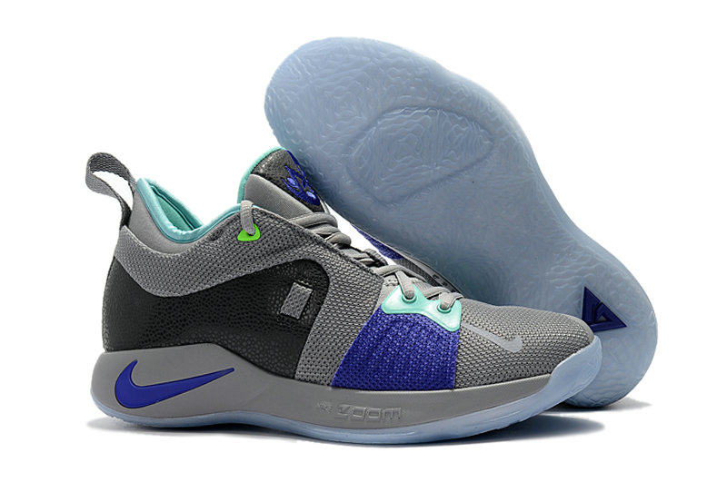 bbfe81b9548 2018 Wholesale Cheap Nike PG 2 Paul George Grey Blue -  www.wholesaleflyknit.com. Loading zoom