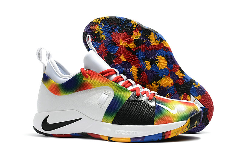 3edf5a2bc444 2018 Wholesale Cheap Nike PG 2 Paul George Grey White Black Rainbow -  www.wholesaleflyknit