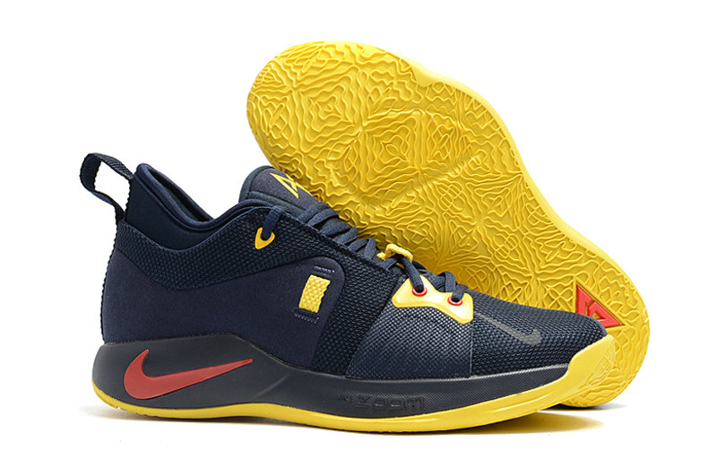 2018 Wholesale Cheap Nike PG 2  Paul George Red Navy Blue Yellow - www.wholesaleflyknit.com