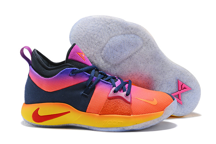 2018 Cheapest Wholesale Nike Zoom PG 2 Pink Yellow Blue Purple - www.wholesaleflyknit.com