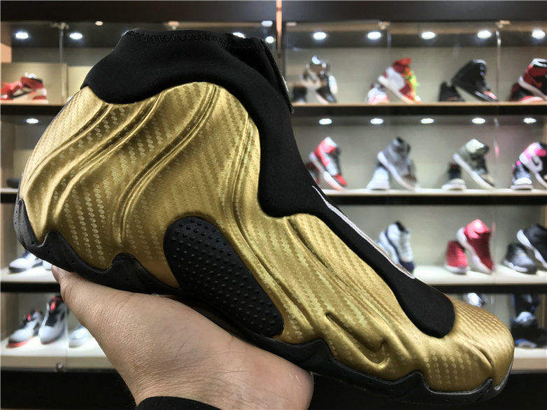 2018 Nike Flightposite x Cheap Nike Air Flightposite One Gold Black - www.wholesaleflyknit.com