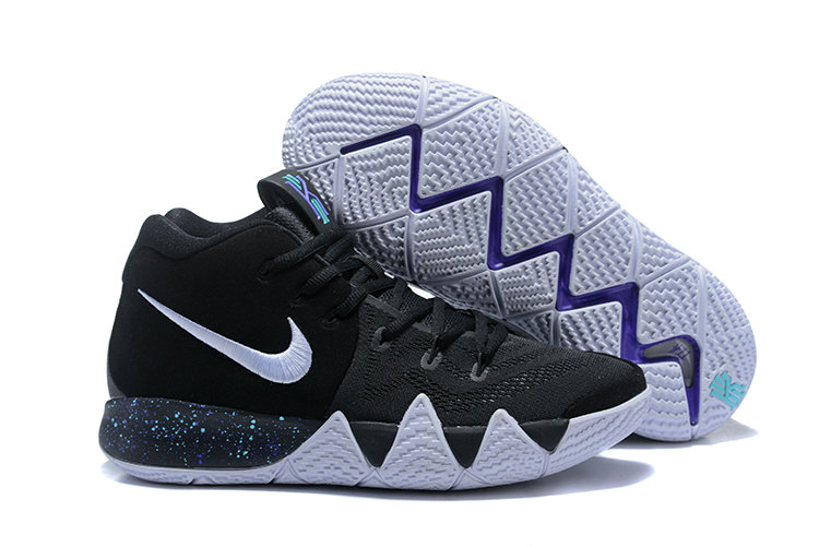 2018 Nike Kyrie Shoes x Cheap Kids Kyrie 4 Black White-Anthracite-Light Racer Blue 943806-002 - www.wholesaleflyknit.com