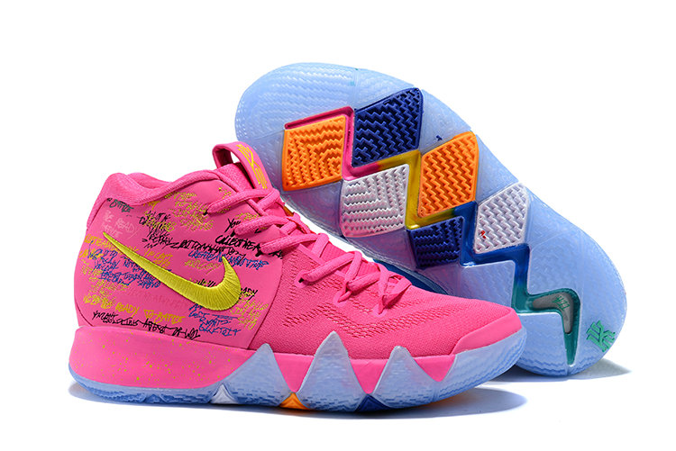 2018 Nike Kyrie Shoes x Cheap Kids Kyrie 4 What The Pink Teal Christmas - www.wholesaleflyknit.com