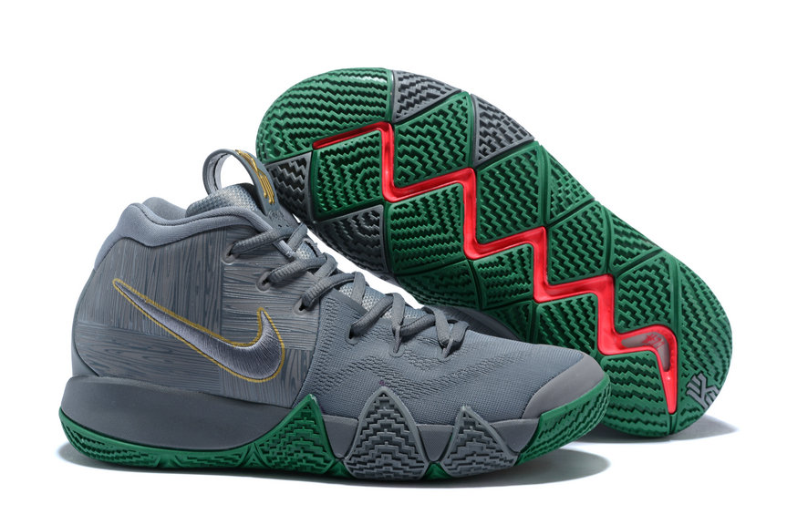 reputable site c7902 d2c01 2018 Nike Kyrie Shoes x Cheap Nike Kyrie 4 City Guardians Silver Metallic  Gold-Light