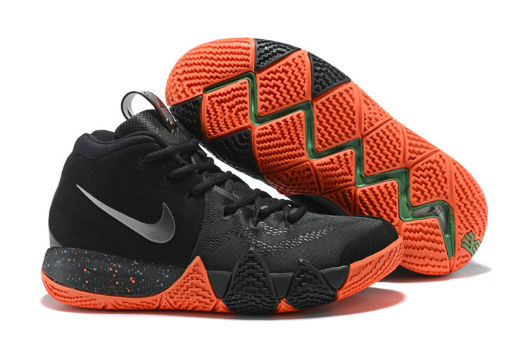 sale retailer 6f380 06280 2018 Nike Kyrie Shoes x Cheap Nike Kyrie 4 Halloween Black Metallic Silver  - www.