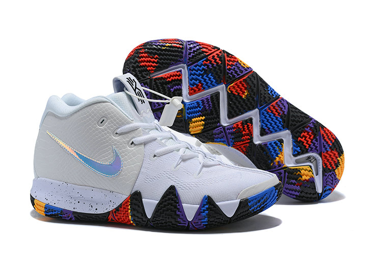 ea3c82391945 2018 Nike Kyrie Shoes x Cheap Nike Kyrie 4 March Madness White Multi-Color -