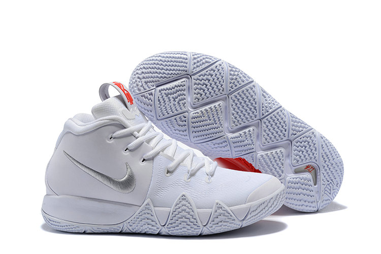 online store dca32 04730 2018 Nike Kyrie Shoes x Cheap Nike Kyrie 4 Triple White Red Silver - www.