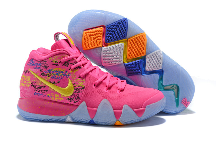 1786e4d5a537 2018 Nike Kyrie Shoes x Cheap Nike Kyrie 4 What The Pink Teal Christmas -  www