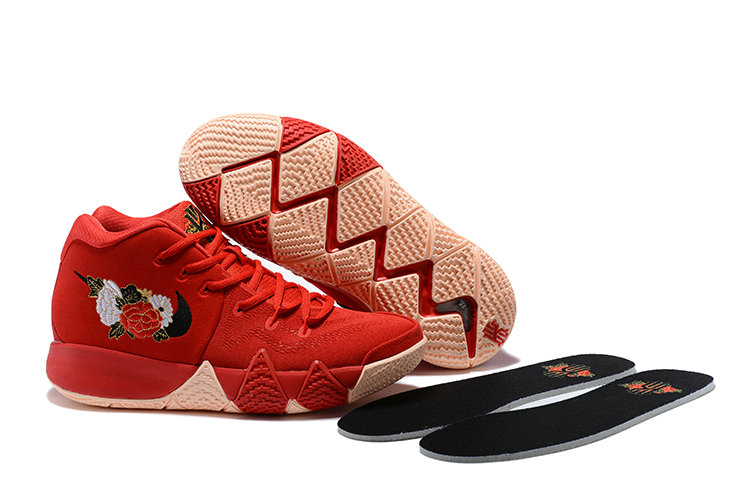 bae73caf585 2018 Nike Kyrie Shoes x Cheap Womens Kyrie 4 CNY University Red Black-Team  Red