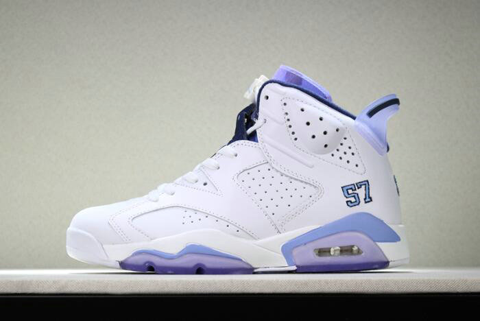 Cheap Wholesale 2018 Mens Air Jordan 6 UNC Championship PE White University Blue For Sale - www.wholesaleflyknit.com