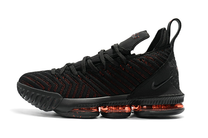 Cheap Wholesale 2018 Mens Nike LeBron James 16 Bred Black Red Basketball Shoes - www.wholesaleflyknit.com