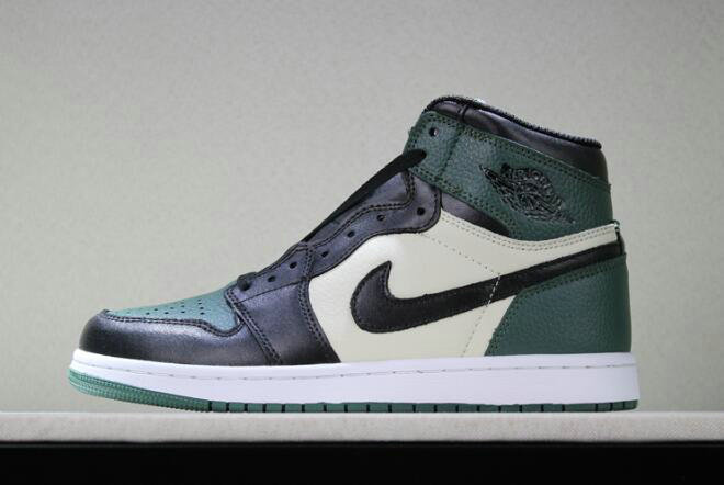 Cheap Wholesale 2018 New Air Jordan 1 Retro High OG Pine Green Sail-Black To Buy - www.wholesaleflyknit.com