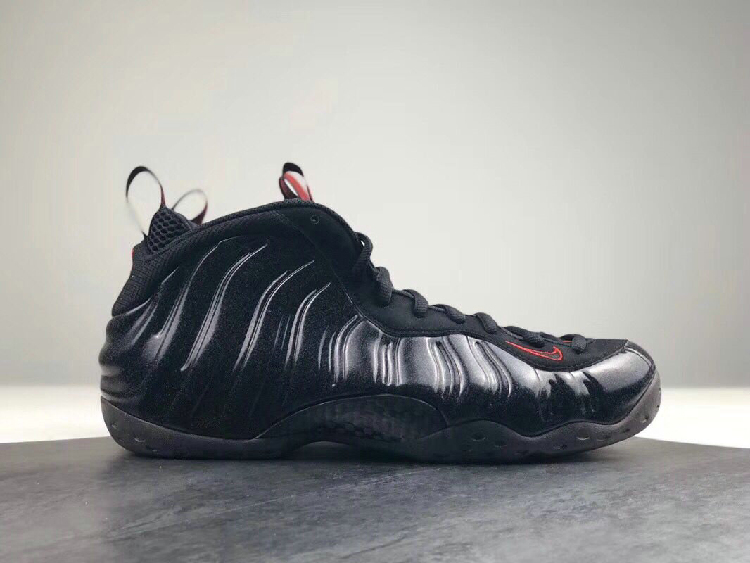 2018 Nike Air Foamposite One Black Red Cheapest Wholesale Sale - www.wholesaleflyknit.com