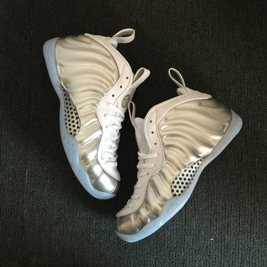 2018 Nike Air Foamposite Pro Silver Grey White Cheapest Wholesale Sale - www.wholesaleflyknit.com