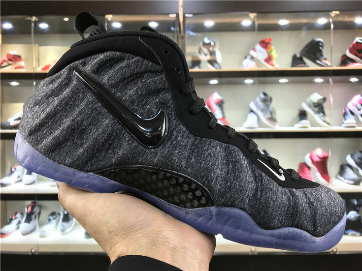 2018 Nike Foamposite x Cheap Nike Air Foamposite Pro Wolf Grey Black Foam in Fleece - www.wholesaleflyknit.com
