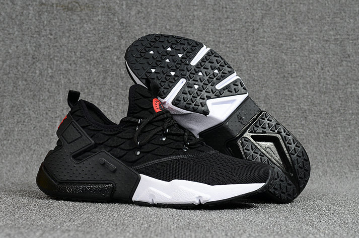 3fa3a12c668b 2018 Nike Air Huarache Flyknit 3D Mens Black White Cheapest Wholesale Sale  - www.wholesaleflyknit