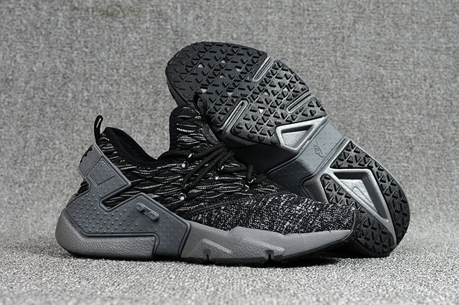 low priced ce2d8 3856b 2018 Nike Air Huarache Flyknit 3D Mens Grey Black Cheapest Wholesale Sale -  www.wholesaleflyknit