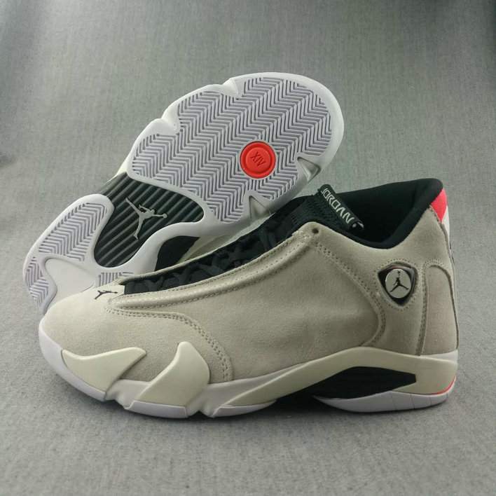 2018 Nike Air Jordan 14 Cream White Black Cheapest Wholesale Sale - www.wholesaleflyknit.com