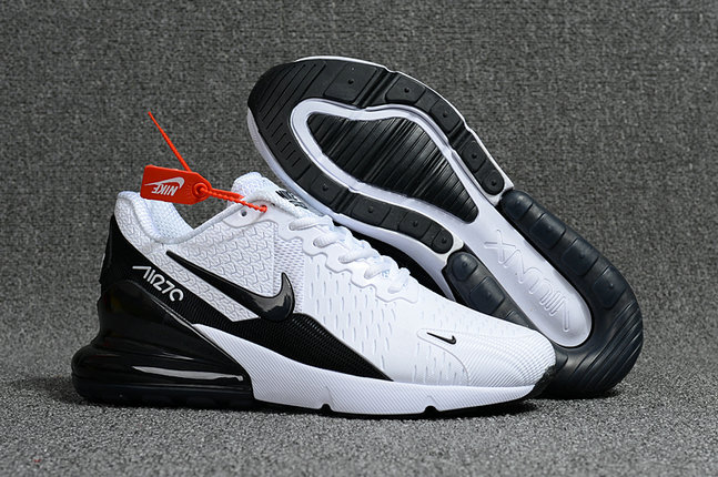 f5609e68f84d 2018 Nike Air Max 270 Black White Mens Womens Cheapest Wholesale Online -  www.wholesaleflyknit