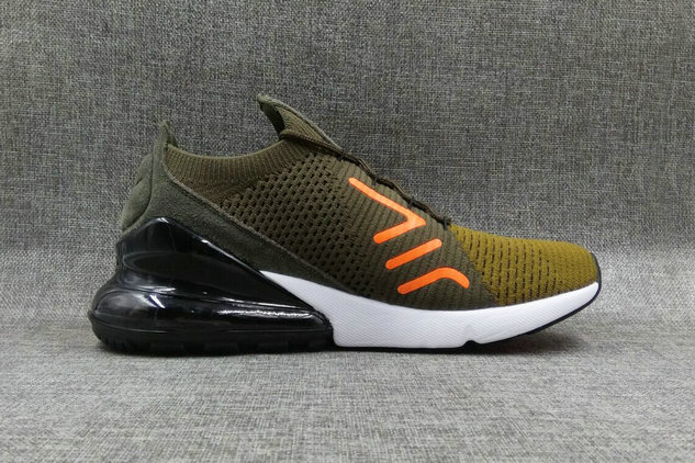 75f55c5e23c8 2018 Nike Air Max 270 Flyknit Mens Army Green Cheapest Wholesale Online -  www.wholesaleflyknit