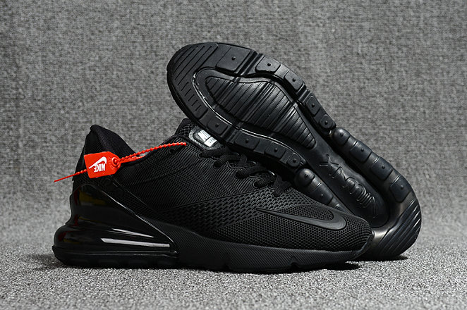 online store cf74d e2915 2018 Nike Air Max 270 Rubber Patch Total Black Cheapest Wholesale Online -  www.wholesaleflyknit