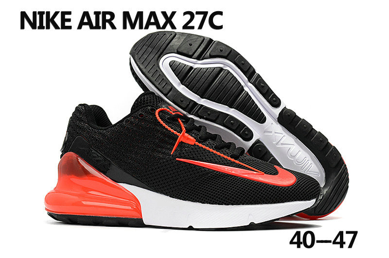 new style 4b548 19b7d 2018 Nike Air Max 270 Rubble Patch Black Red White Cheapest Wholesale Sale  - www.