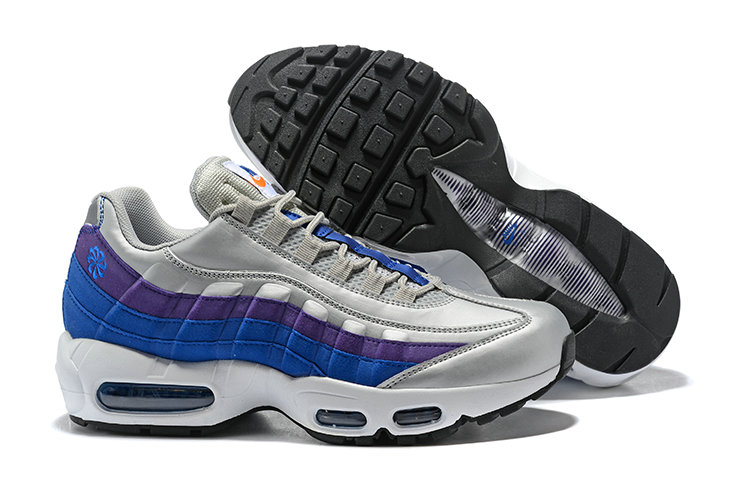 2018 Nike Air Max 95 SneakerBoots Purple Blue White Black Cheapest Wholesale Sale - www.wholesaleflyknit.com