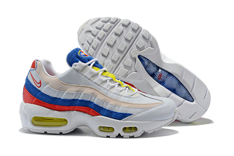 2018 Nike Air Max 95 SneakerBoots Red Blue White Gold Cheapest Wholesale Sale - www.wholesaleflyknit.com
