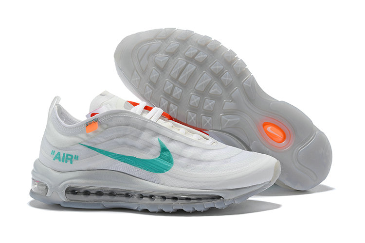 2018 Nike Air Max 97 SneakerBoots OFF-WHITE Green White Cheapest Wholesale  Sale - www