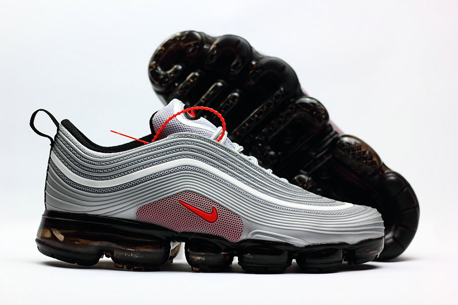 a59ec377e0 2018 Nike Air Max 97 Ultra VaporMax Grey Red Black -  www.wholesaleflyknit.com