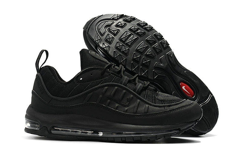 2018 Nike Air Max 98 Colorways All Black Cheapest Wholesale Sale - www.wholesaleflyknit.com