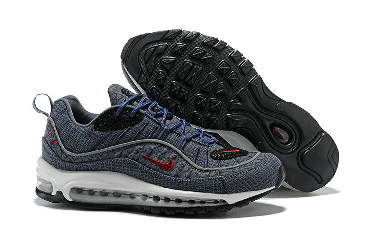 2018 Nike Air Max 98 Colorways Grey Red Blue Black Cheapest Wholesale Sale - www.wholesaleflyknit.com