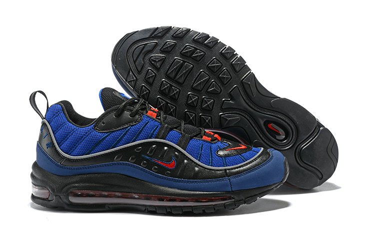 2018 Nike Air Max 98 Colorways Navy Blue Red Black Cheapest Wholesale Sale - www.wholesaleflyknit.com