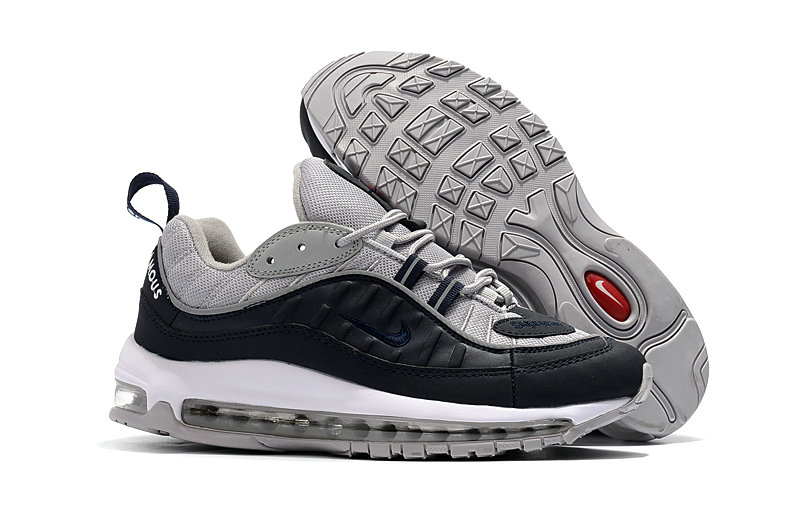 2018 Nike Air Max 98 Colorways Red Grey Navy Blue Cheapest Wholesale Sale - www.wholesaleflyknit.com