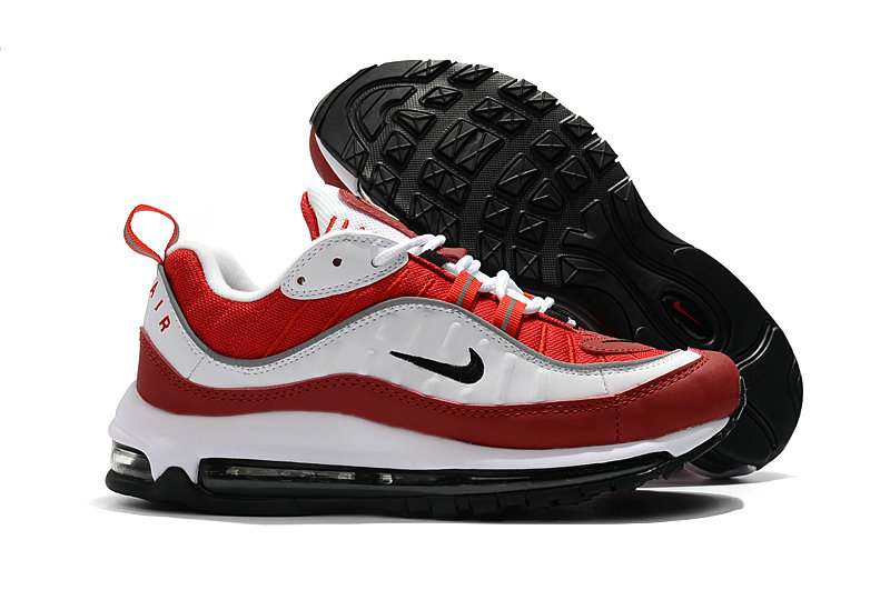 2018 Nike Air Max 98 Colorways Red White Black Cheapest Wholesale Sale - www.wholesaleflyknit.com
