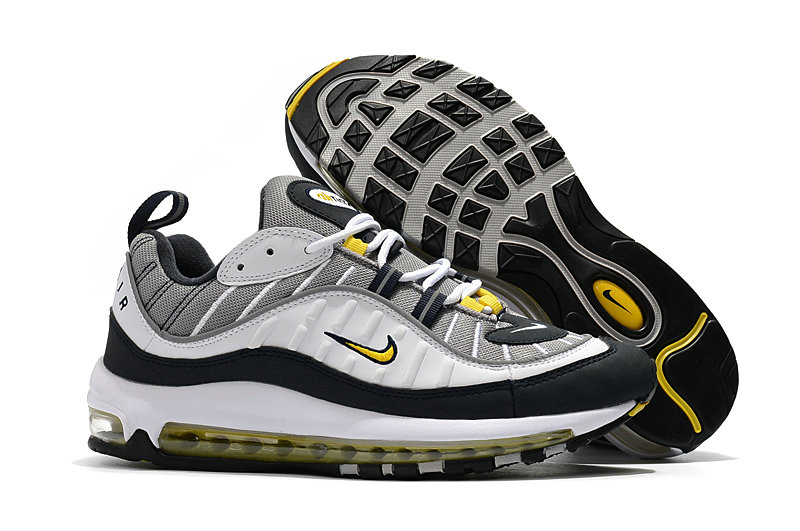 2018 Nike Air Max 98 Colorways Yellow Grey White Black Cheapest Wholesale Sale - www.wholesaleflyknit.com