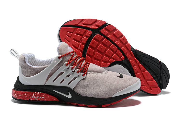 2018 Nike Air Presto BR QS Grey Red Black Cheapest Wholesale Sale - www.wholesaleflyknit.com
