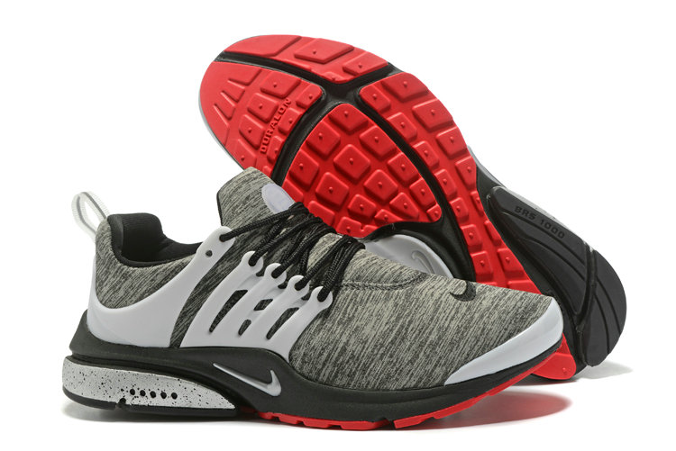 2018 Nike Air Presto BR QS Grey Red White Black Cheapest Wholesale Sale - www.wholesaleflyknit.com