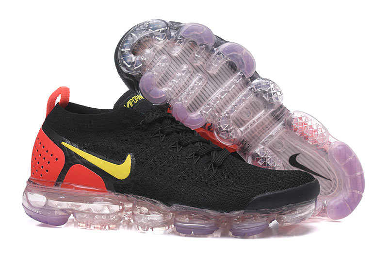 8a183e91add 2018 Nike Air VaporMax Flyknit 2.0 Black Red Yellow Cheapest Wholesale Sale  - www.wholesaleflyknit
