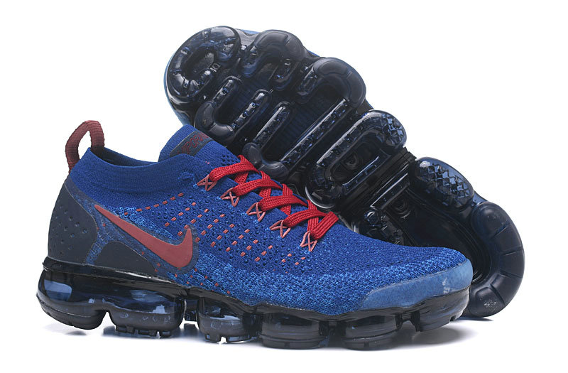 reputable site 8a8b6 02273 2018 Nike Air VaporMax Flyknit 2.0 Navy Blue Red Black Cheapest Wholesale  Sale - www.
