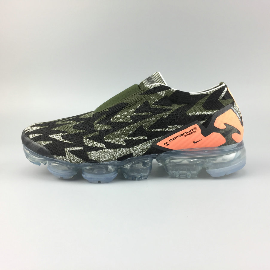 d2802e8b3cb5 2018 Nike Air VaporMax Moc 2 ACRONYM Orange Army Green Black Mens Cheapest  Wholesale Sale -