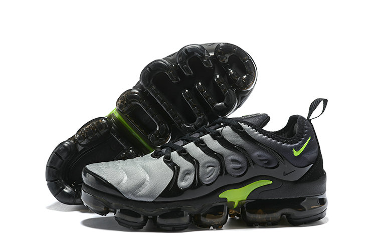 2018 Nike Air VaporMax Plus Grey Black Green Cheapest Wholesale Sale - www.wholesaleflyknit.com